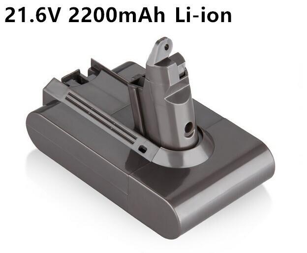 21.6 V 2200 mAh Li-Ion Batteria di Ricambio per Dyson Aspirapolvere DC58 DC61 DC62 V6 965874-02 Animale DC72 Batteria del palmare