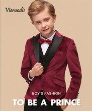 3 Pcs Kids Boys Clothes Wedding Party Suit Children Toddler Formal Suit Outfit Set izod little boys herringbone suit toddler set
