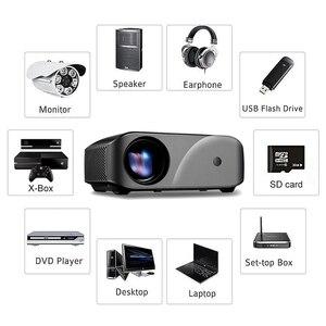 Image 3 - Tragbare F10 MINI Projektor 1920*720P Auflösung LED Projektor Für Home Cinema Unterstützung Full HD Tragbare 3D Beamer EU/Us stecker