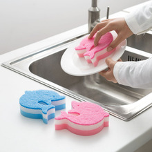 4 Pcs/Set Kitchen Duster Wipe Dish Bowl Cleaning Sponge Dolphin Shape Pot Pan Wash Cleaning Wiping Rags Home Clean Tools Best Pr