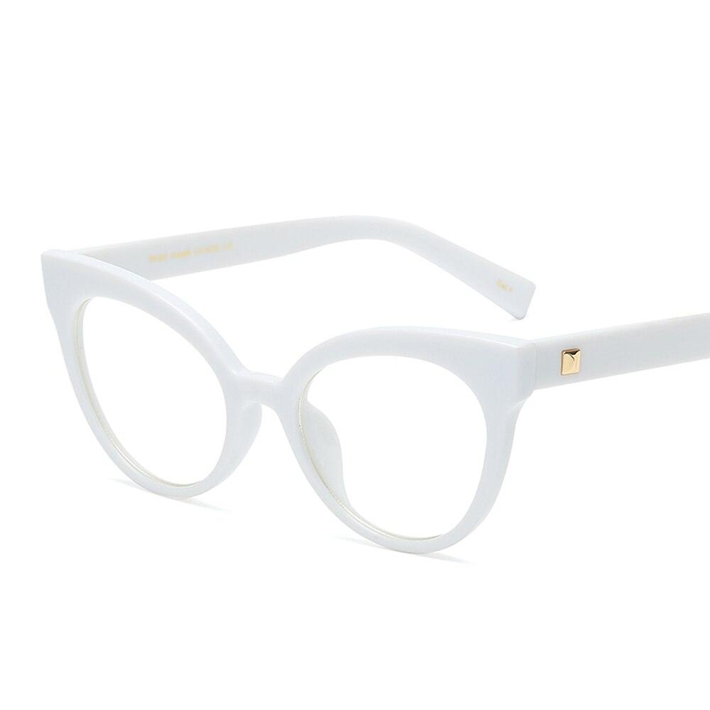 peekaboo white cat eye glasses frames for women optical clear lens retro eyewear frames women 2018 black beige burgundy in eyewear frames from womens - White Glasses Frames