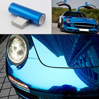 Car Body Air Channel Release Technology Waterproof Stretchable Chrome Wrap Vinyl Film DIY Decor With Size 1.52x15m/60''x590''