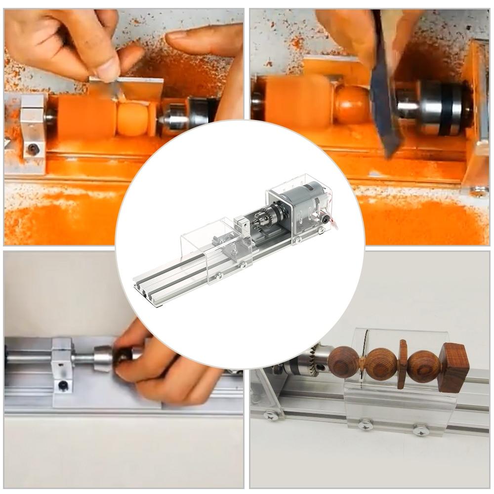 OPHIR Mini tour Machine outil bricolage travail du bois tour fraiseuse meulage perles de polissage perceuse outil rotatif ensemble KD020W - 5