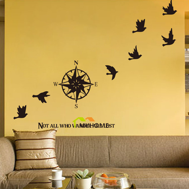 Aliexpress.com : Buy Not All Who Wander Are Lost Vinyl Wall Decals ...