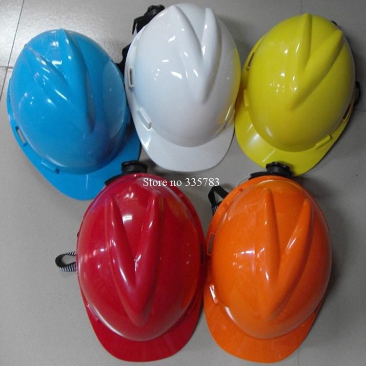Good Quality casco de seguridad V style Glazed steel building site safety helmet work site protect helmet high quality safety helmet abs y china national standard casco de seguridad anti smashing multifunction hard hat