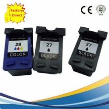 3 Pack Ink Cartridges For HP 27XL 28XL HP27XL HP28XL Officejet 4211 4212 4215 4219 4251 4255 5608 Inkjet Printer