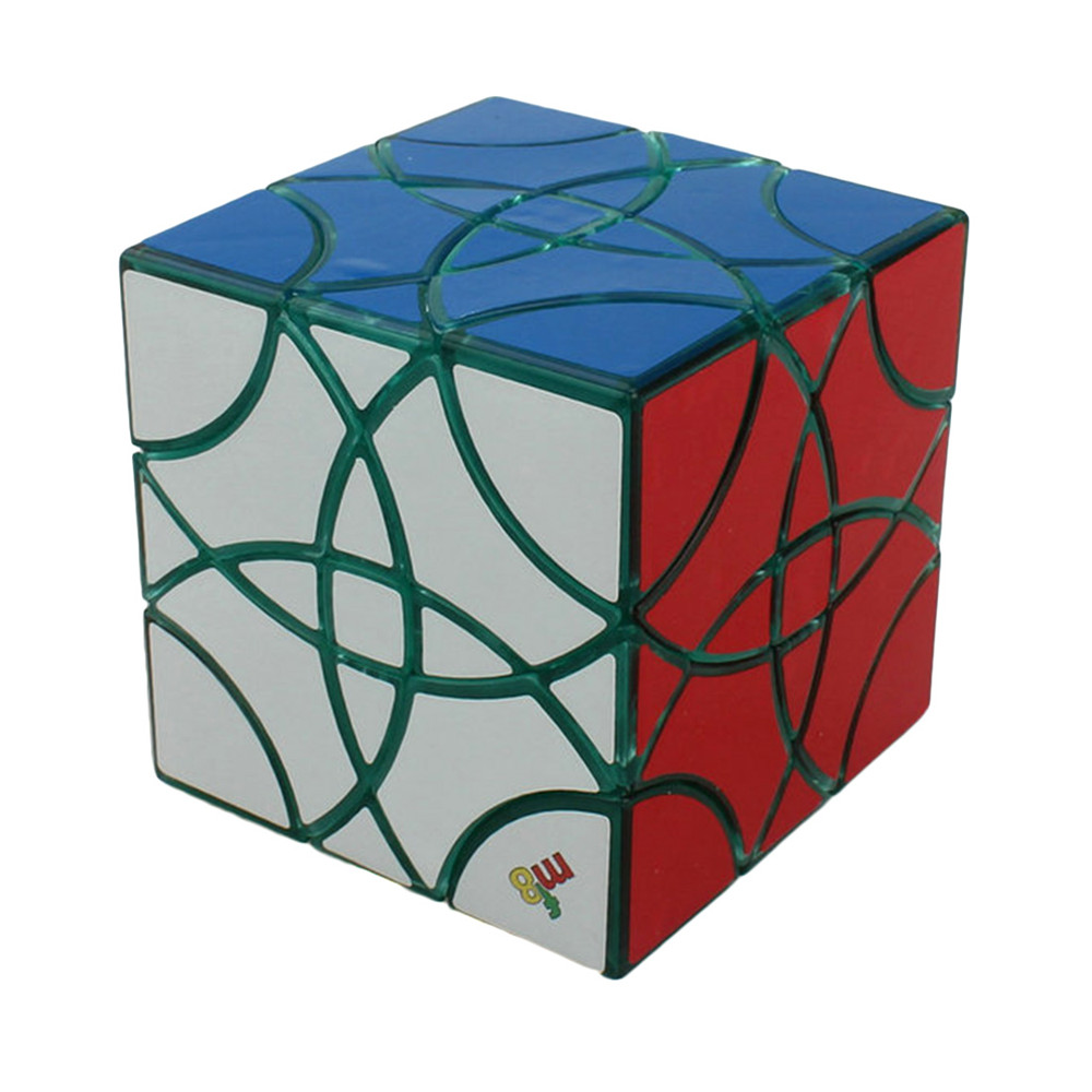 Brand New MF8 60mm Curvy Copter III Transparent Green Body DIY Magic Cube Puzzle Cubes Educational Toys For Kids Children