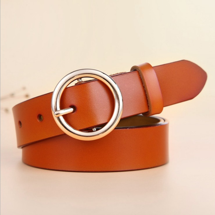 New Design Fashion Women 39 s Belts Genuine Leather Brand Straps Female Waistband gold Pin Buckle belt student Jeans cowskin lady in Women 39 s Belts from Apparel Accessories