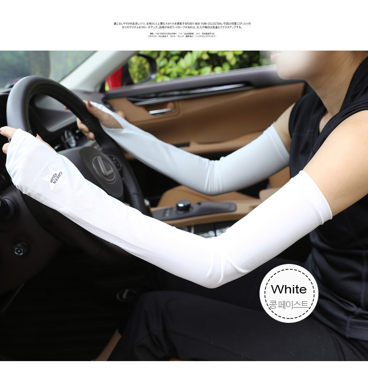 Ice Cool Sunscreen Arm Sleeve Half Finger Gloves Fingerless Arm Warmers Sun Protection Driving Mittens Cuff Anti-UV Long Gloves (16)