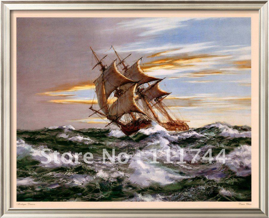 Sailboat oil painting Seascape hand painted Wall Art Dawn Chase by Montague Dawson High quality 100%handmade free shippingSailboat oil painting Seascape hand painted Wall Art Dawn Chase by Montague Dawson High quality 100%handmade free shipping