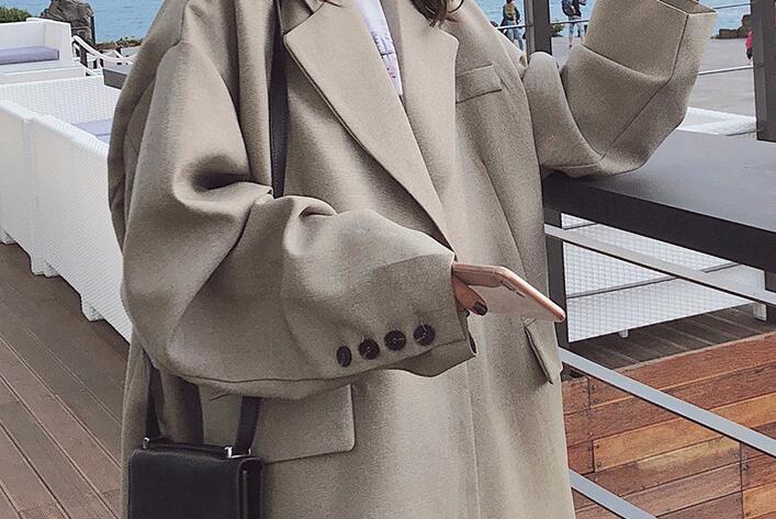 Autunno Trench Lungo Wome Sottile Dimensioni Vento Allentato Versione Nuova A Grey Cappotto Breve Caldo Femminile Primavera 2018 Grandi Di Studente Coreana Giacca Chic E Impermeabili Z322 wr77xXU