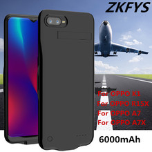 6000mAh Power Bank For OPPO 15X K1 Ultra Thin Fast Charger Battery Case For OPPO A7 A7X Bracket External Backup Battery Cover