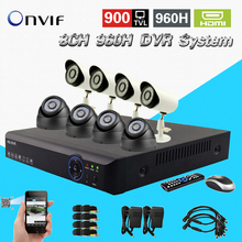 8ch CCTV surveillance system 900tvl IR waterproof outdoor indoor cftv camera HDMI 1080P dvr nvr recorder security kit 8channel