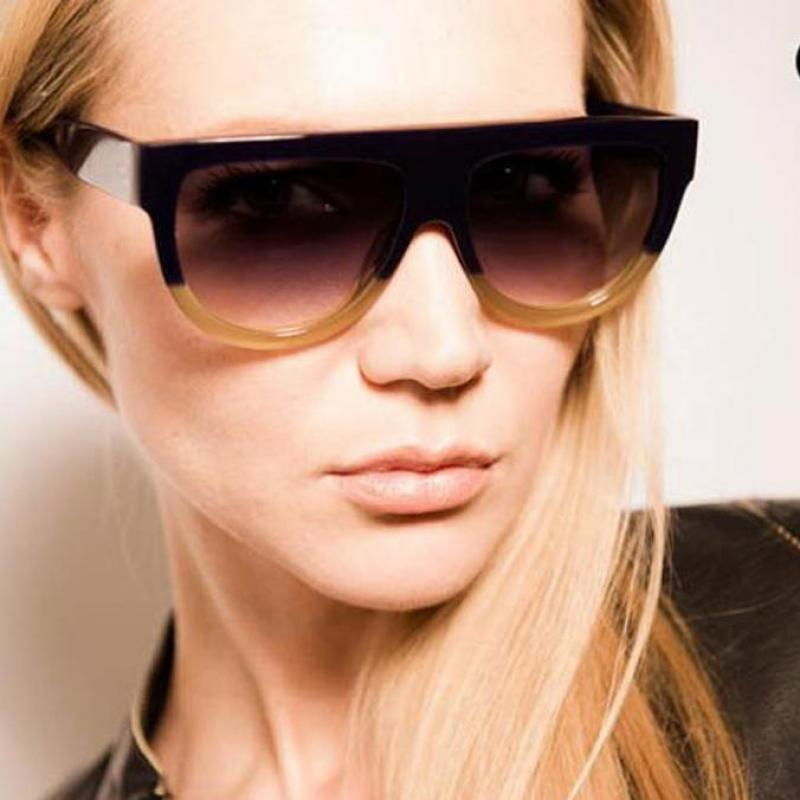 High Quality Women Brand Designer Sunglasses Woman Flat -9069