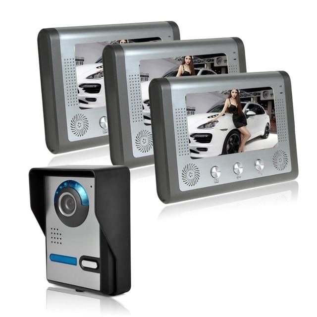 buy 7 video door phone doorbell intercom. Black Bedroom Furniture Sets. Home Design Ideas
