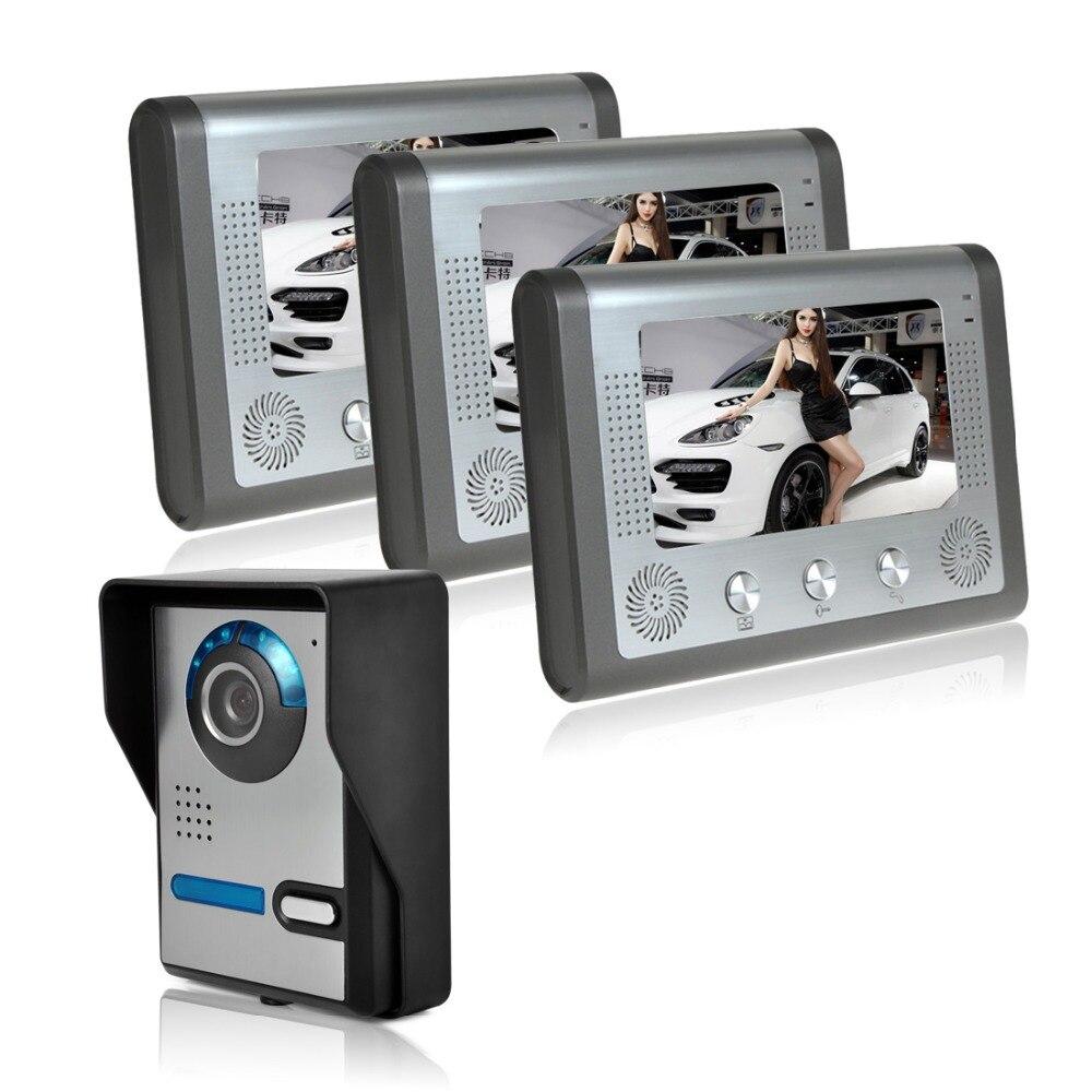 7 Video Door Phone Doorbell Intercom System Camera angle adjustable video intercom equipment villa doorbell