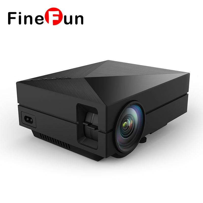 FineFun 2017 New GM60 LED Projector Portable 1000LM 800 x 480 Multimedia Projectors Support USB VGA HDMI AV
