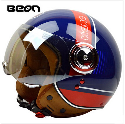 Glitz blue red men BEON B110B motocross half face Helme, motorcycle MOTO electric bicycle safety headpiece scoote dirt bike men black blue motocross open face motorcycle helmet moto electric bicycle safety headpiece motorcyclist biker helmets