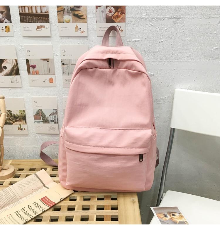 HTB1E2zPXvb2gK0jSZK9q6yEgFXaP 2019 Backpack Women Backpack Solid Color Women Shoulder Bag Fashion School Bag For Teenage Girl Children Backpacks Travel Bag