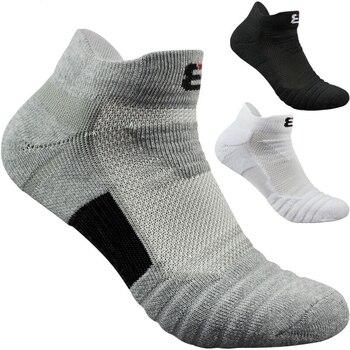 2pairs/lot men socks terry bottom sports basketball running outdoors towel skarpetki chaussettes Cotton ankle Short socks corap cow pattern socks 2pairs
