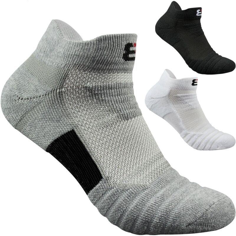 3pairs/lot men   socks   terry bottom sports basketball running outdoors towel skarpetki chaussettes Cotton ankle Short   socks   corap