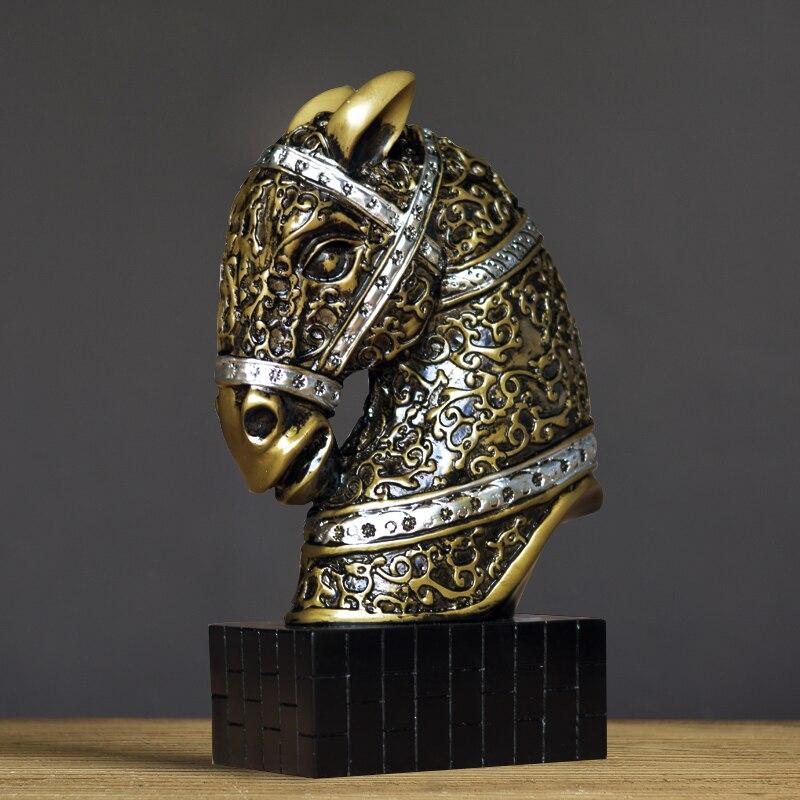 Chanceux cheval décoration de bureau décoration étude de moderne mobilier de style Chinois bijoux de bureau bibliothèque fleur de pavot