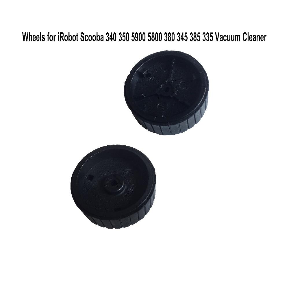 1 Pair  Replacement  Caster  Wheels for iRobot Scooba 340 350 5900 5800 380 345 6050 385 335 Vacuum Cleaners wheel irobot щетка для scooba 450