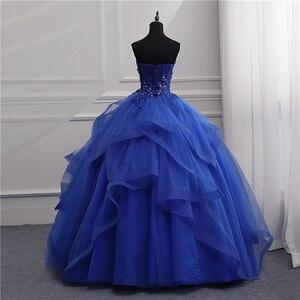 Image 5 - Formal Evening Dresses Long Gown Girls Elegant Blue White Strapless Sleeveless Priness Evening Dresses for party New Design