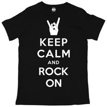 KEEP CALM AND ROCK ON MENS SUMMER MUSIC FESTIVAL PRINTED T-SHIRT New T Shirts Funny Tops Tee Unisex