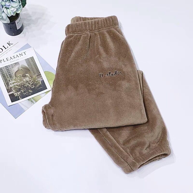 Зимние фланелевые длинные штаны для сна; Толстая Теплая Повседневная Домашняя одежда; повседневные пижамные брюки; мягкие свободные брюки; одежда для сна - Цвет: Pants-cocos