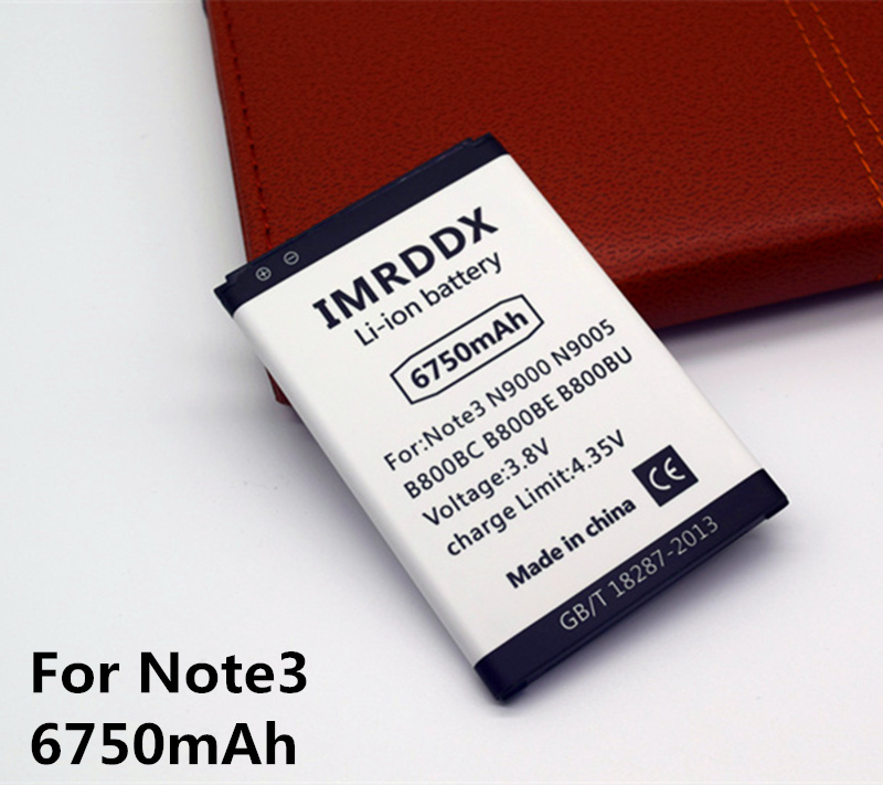 IMRDDX 6750 mAh B800BC B800BE Für Samsung Galaxy Note 3 Batterie, N9000 N9005 N900A N900 N9002 N9008 Für Samsung hinweis III Batterie