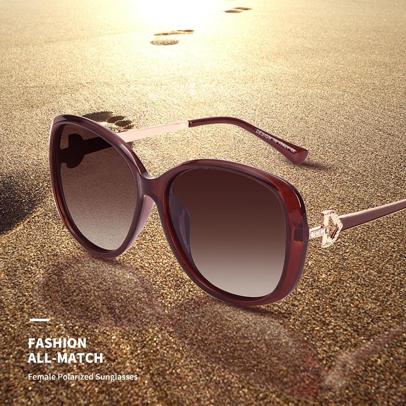 AOFLY BRAND DESIGN Luxury Women Polarized Sunglasses 2020 Lady Sun glasses Female Rhinestone Temple Shades Eyewear UV400 A151