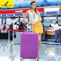 Чистые цвета чемодан Обложка для 20 дюймов-32 дюймов чемодан упругой полиэфирного материала с четырьмя видами 1 шт. бесплатная доставка 16861 Т