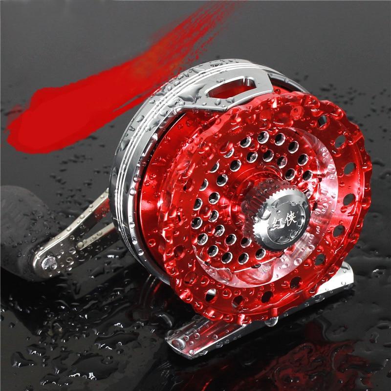 New Full Aluminum Alloy Fly Fish Reel Former Rafting Fish Reel Ice Fishing Wheel Left/Right Anti-Corrosion 091#