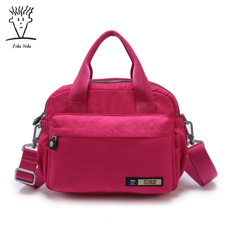 Fido Dido 2017 Women Messenger Bags Famous Brand Shell Package Women Shoulder Bag Nylon Handbag Women Pouch!! fido