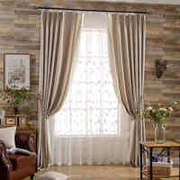 Blinds blackout jacquard fabric Embroidery curtain tulle window for livingroom custom size style curtains for bedroom cortinas