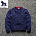 Primavera Otoño nuevo estilo de los bebés suéter color Puro niños chico jersey de Punto para niños 2-8Y Niños suéter caliente