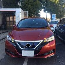 ABS Cromato Esterno Motore Anteriore del Cappuccio del Cofano Cornici di Copertura Trim 1 pz Per Nissan Leaf 2018