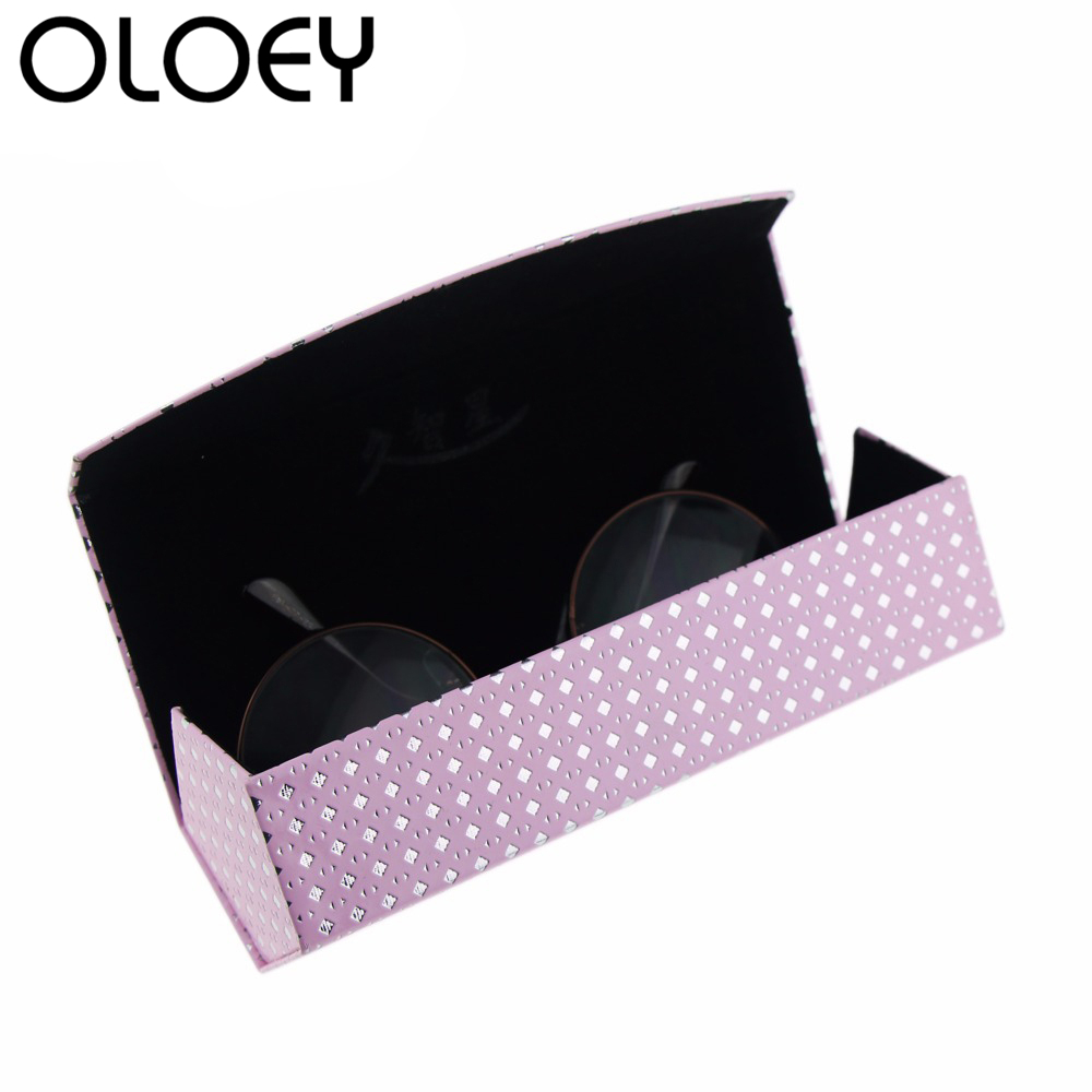 OLOEY 2018 New Handmade Sunglasses Glasses Case Fashion Men Women Reading Rectangular Glasses Box Optical Glasses Accessories in Eyewear Accessories from Apparel Accessories
