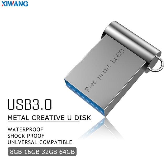 Mini USB 3.0 32 GB 64 GB Dung lượng Thực Ổ USB Flash 128 GB Pendrive 16 GB 8 GB bút ổ đĩa USB Bộ nhớ Flash miễn phí vận chuyển