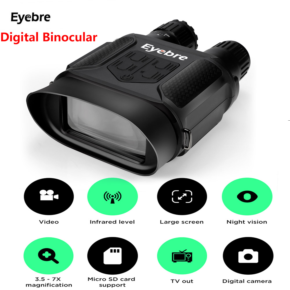Eyebre 400M Digital Infrared Hunting Night Vision Binocular Scope HD Photo Camera Video Recorder Tactical Night Vision Scope eyebre tdc 10 x 25mm binocular water resistant telescope