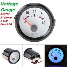 6031BL 2 52mm 12V Blue LED Bar Turbo Boost Gauge/Tachometer /Oil Temp Meter/Oil Pressure Gauge/Voltmeter with Sensor for Cars