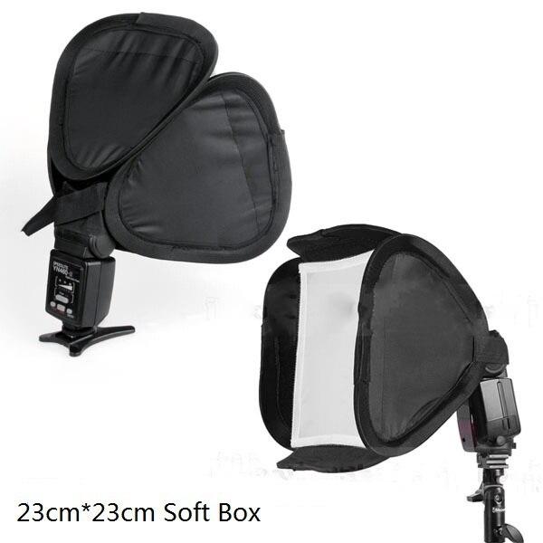Lightdow Общий 23 см х 23 см Softbox Софтбокс для Вспышкой Света Speedlite Фото Вспышки