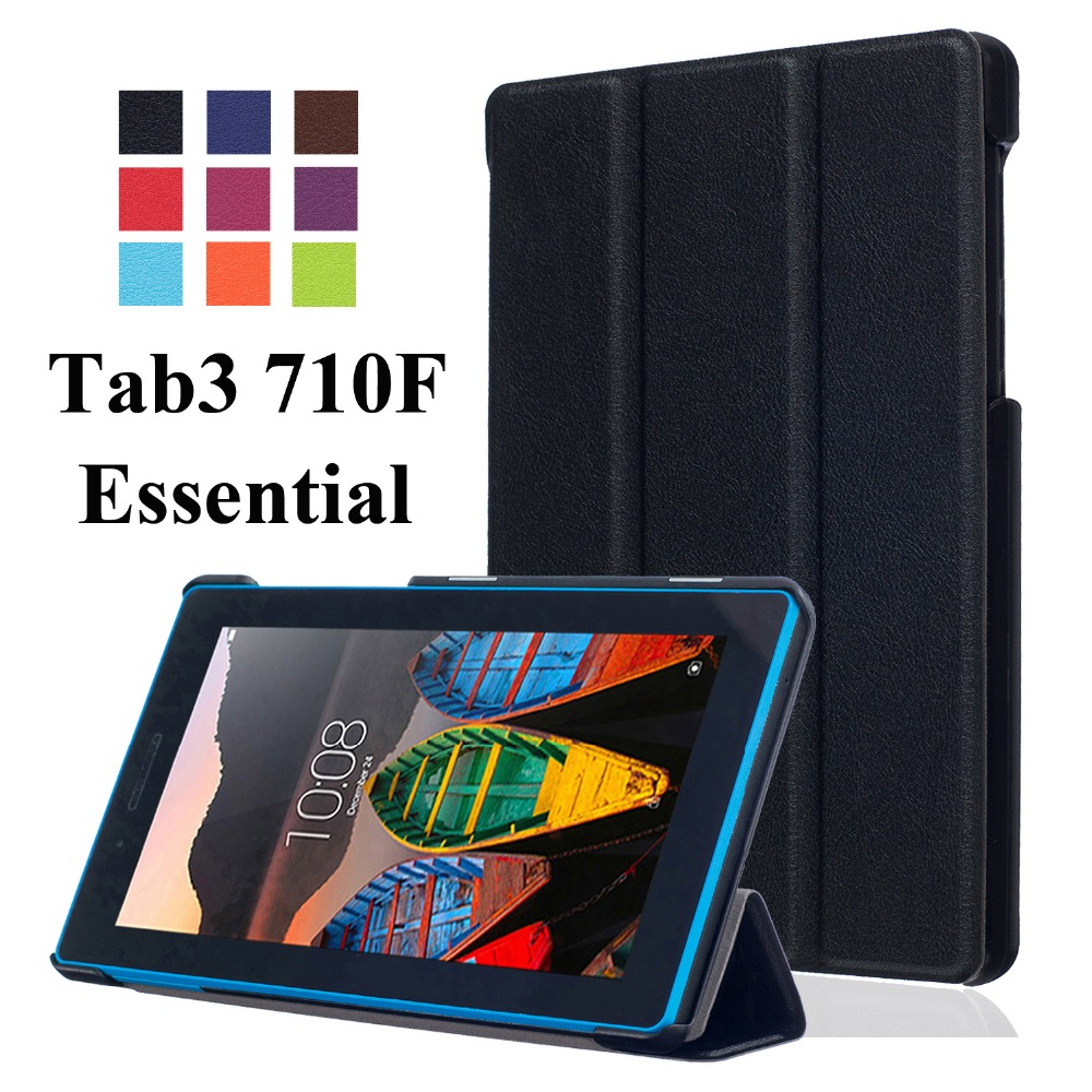 For Lenovo Tab 3 7.0 710F Tab3 7 Essential(710F) Business Cartoon Painted Print PU Leather Flip Cover Case