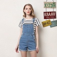 2019 Fashion Denim Overalls for Women summer jumpsuit Rompers plus size Playsuit Salopette Straps short