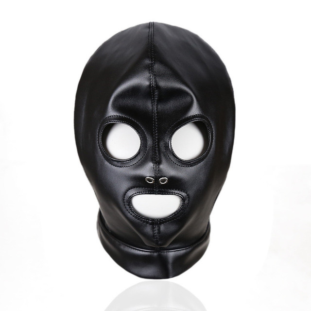 Toys Adult GamesFetish Hood Headgear PU Leather BDSM Bondage Breathable Sex Mask Hood Sex Product For Couples Intimate goods 4