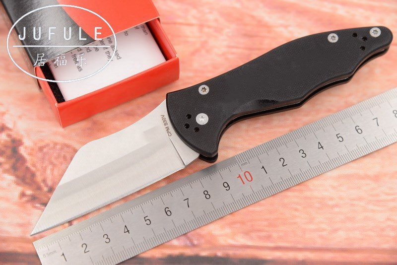 JUFULE OEM C85 carbon fiber / G10 handle S30V blade Folding camping hunting outdoor survive multi EDC Tool Utility kitchen knife