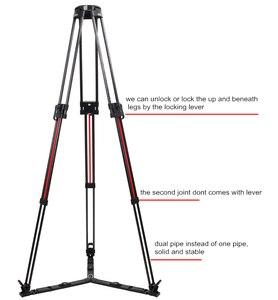 Image 4 - TS 1610CF Q Quick Lock Stativ Carbon Faser Professionelle Stativ 100mm Schüssel Video Kamera Stativ Für TERIS V12 V15 V18