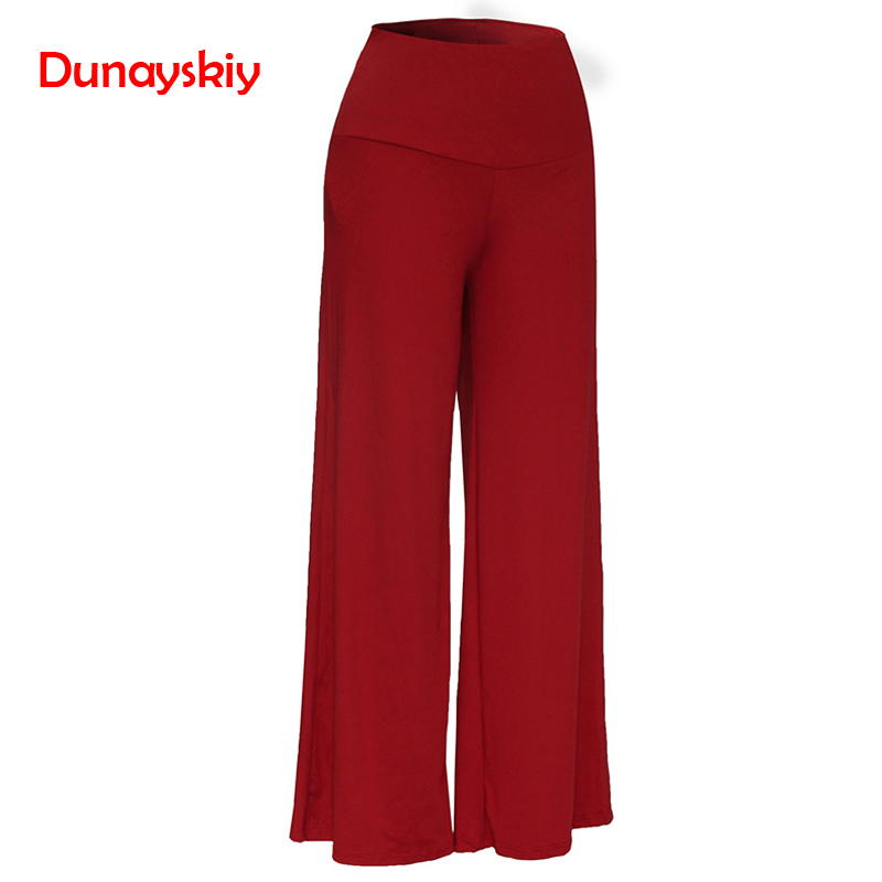 Casual OL Elegant Women High Waist   Wide     Leg     Pants   Side Zipper Solid Color Oversize Flare   Pants   Long Loose Plus Size 3XL Trousers