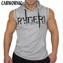 CARWORNIC Mens Sleeveless Tank Tops Vest Summer Cotton Male Quick Dry Gyms Clothing Fitness Bodybuilding Undershirt